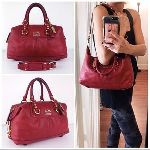 Coach Vachetta Leather Madison Sabrina Satchel